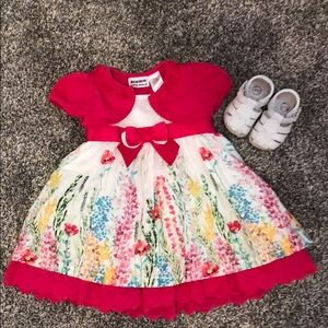 Baby girl formal sundress & matching sandals